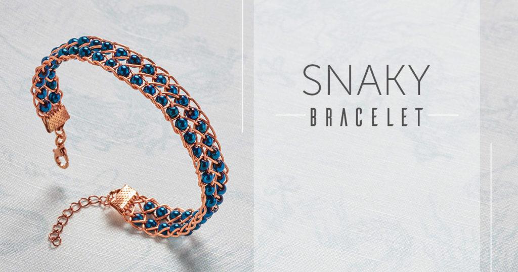 <i>Kumihimo Wirework Made Easy:</i> Snaky Bracelet