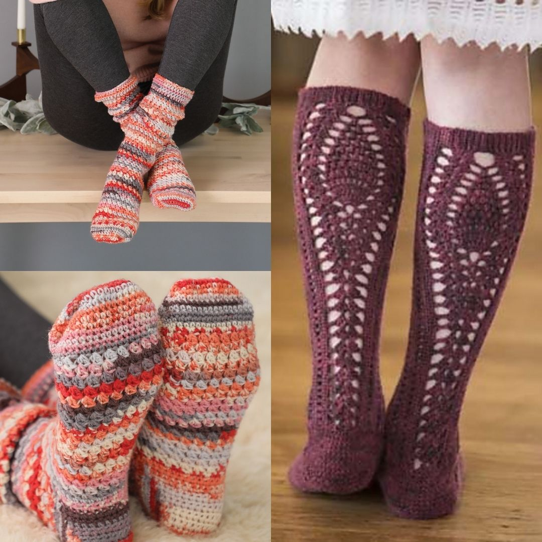 Inspired by Rita Buchanan's article on knitting with unspun roving, Linda Gordon knitted lovely socks with nary a twist.
