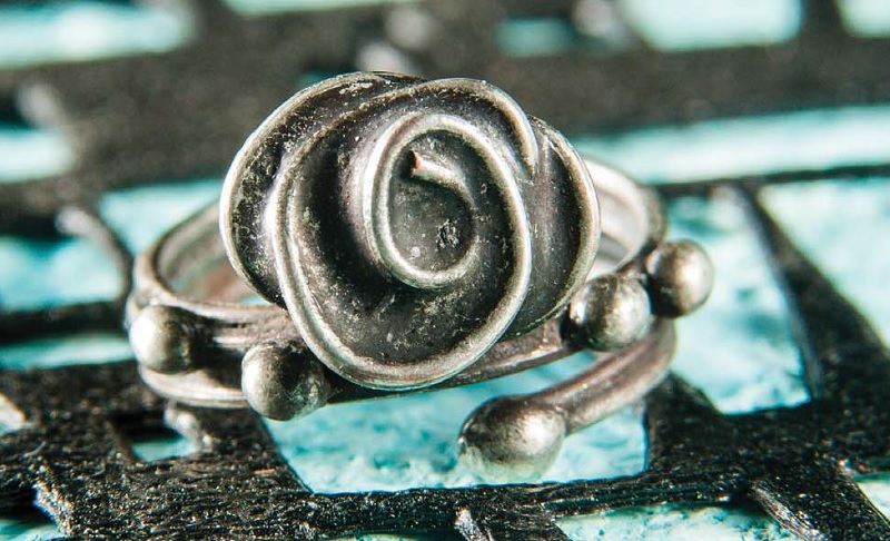 flower jewelry: Rose Ring from Soldered Alchemy by Laura Beth Love