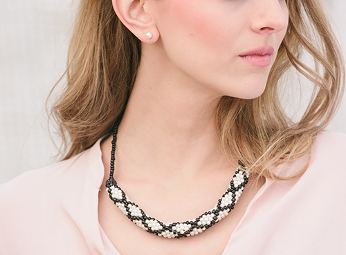 Close up of Sophisticate Crochet Necklace