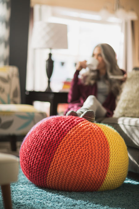 knit home decor project