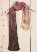 Easy Free Knitting Patterns: Women's Knitted Scarf Pattern