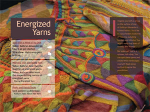 SpinKnit eMag Energized Yarn feature