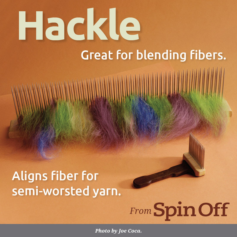 hackle: Great for blending fibers. Photo Joe Coca.