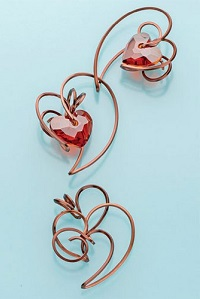 make Lilian Chen's square wire heart pendant and earrings