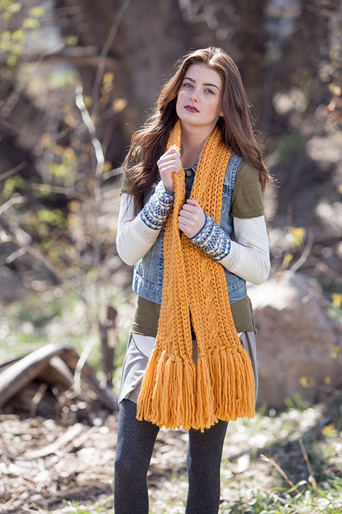Chunky Crochet Scarf with Tassels St. Croix Scarf