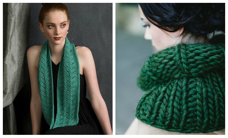 green knitted accessories