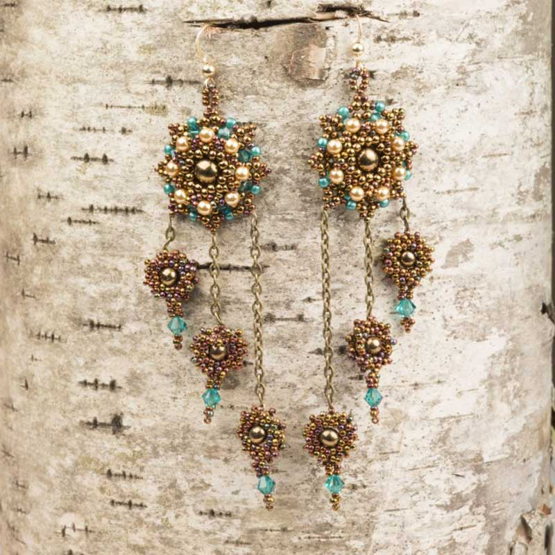 18 Luxurious Beaded Jewelry Designs with a Vintage Flair. Star Struck Earrings