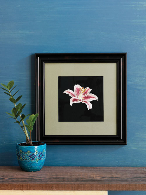 A Stargazer Lily in Japanese Silk Thread to Embroider by Michael Cook