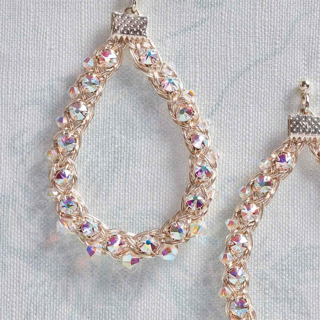 Kumihimo Wirework Made Easy: Starlight Earrings