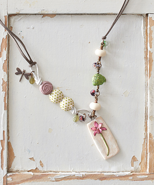 The Tortoise & the Orchid, by Martha Thomas in Jewelry Stringing Secret Garden collection