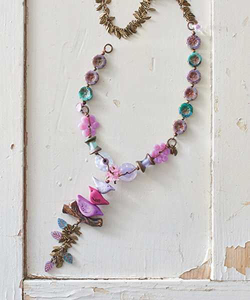Little Birdies, by Martha Thomas, Jewelry Stringing Garden Party collection