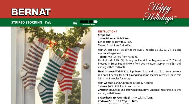 Striped Stockings: Free Knitting Pattern
