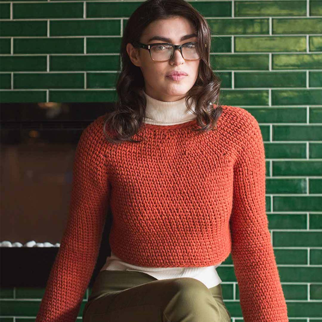 Suave Sweater from <em>Interweave Crochet</em> Fall 2018 | Photo Credit: Harper Point Photography