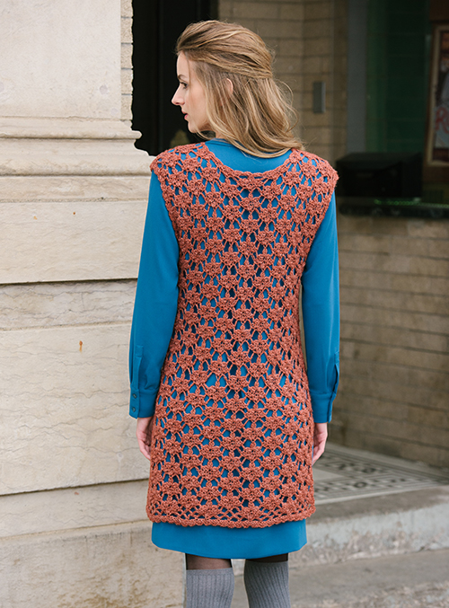 Back of Sugar Maple Crochet Tunic