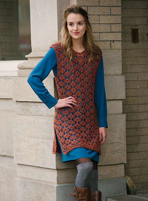 Chilling in the Sugar Maple Crochet Tunic