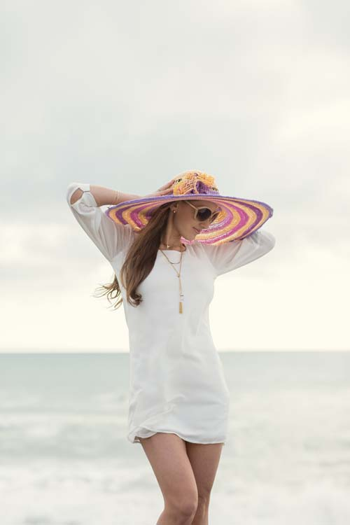 Sun-Kissed Hat at Beach