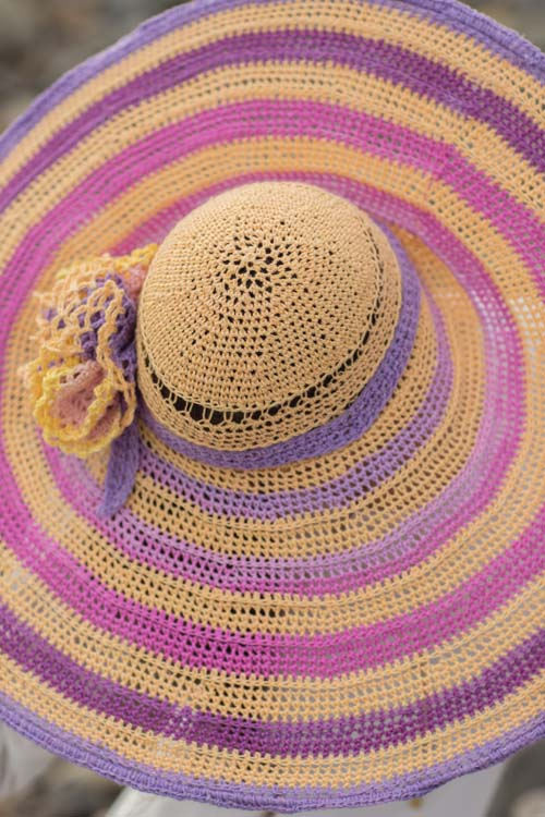 Sun-Kissed Hat from Top