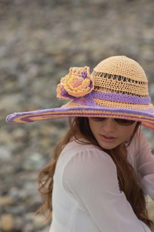 Sun-Kissed Hat with Flowers