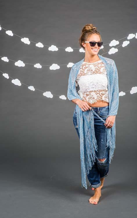 Sunrise Shawl Tunisian Crochet