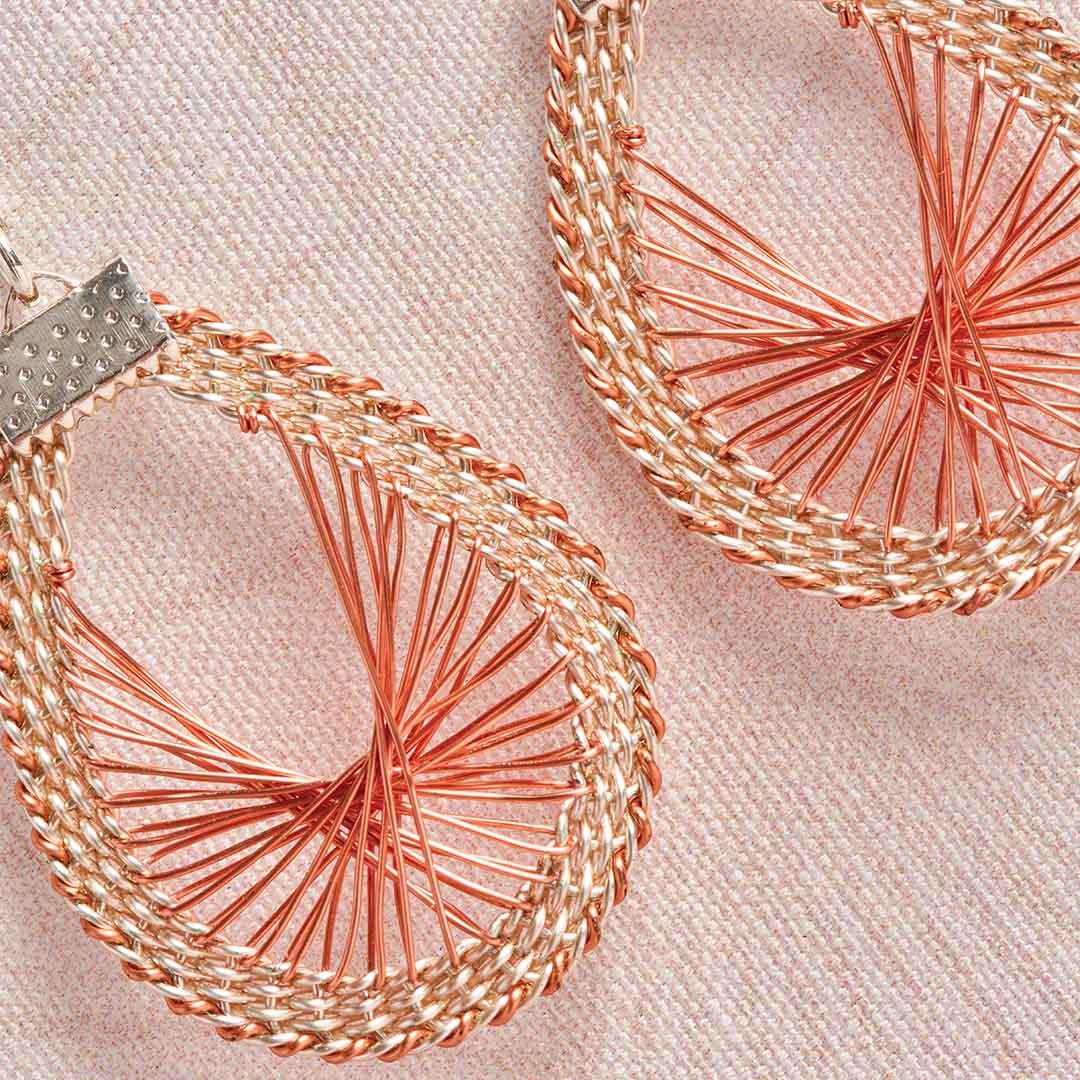 Kumihimo Wirework Made Easy: Sunrise Earrings