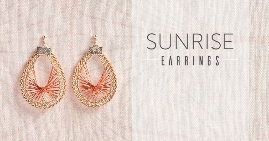 <i>Kumihimo Wirework Made Easy:</i> Sunrise Earrings