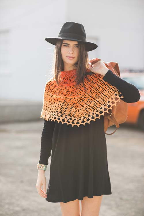 Sunset Shawl Crochet Pattern