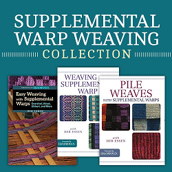 Learn how to weave velvet and other supplemental warp weaving structures and techniques in this new collection of Deb Essen's work on supplemental warps