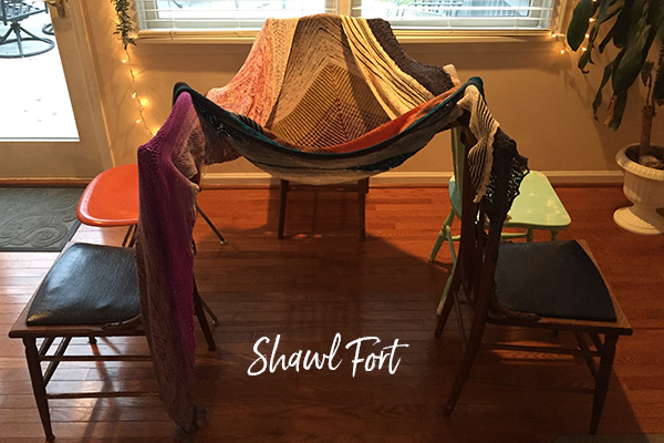snow day shawl fort