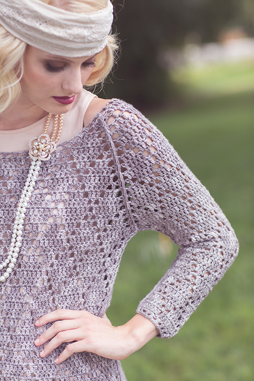 Close up of Swanky Sweater Design