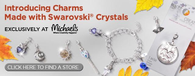 Swarovski crystals, Swarovski charms, Michaels, jewelry, sparkle, crystals