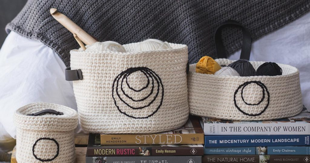 <em>Interweave Crochet</em> Fall 2018: Sweet Storage Baskets