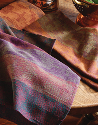 Towels in a variation of warp rep by Joanne Tallarovic
