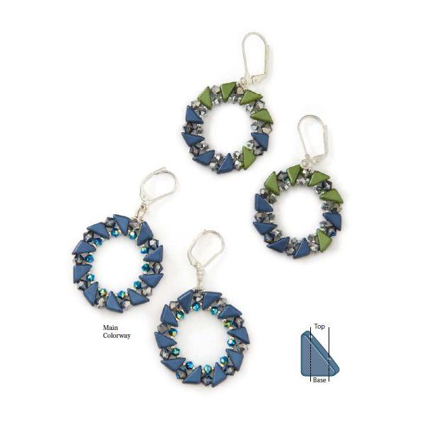 Two-Hole Bead: Tango Bead. Tangolicious beaded earrings