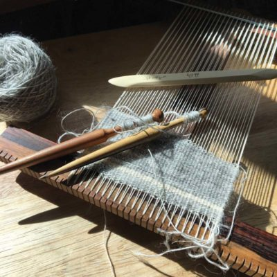 An example of a tapestry loom used in weaving tapestries!