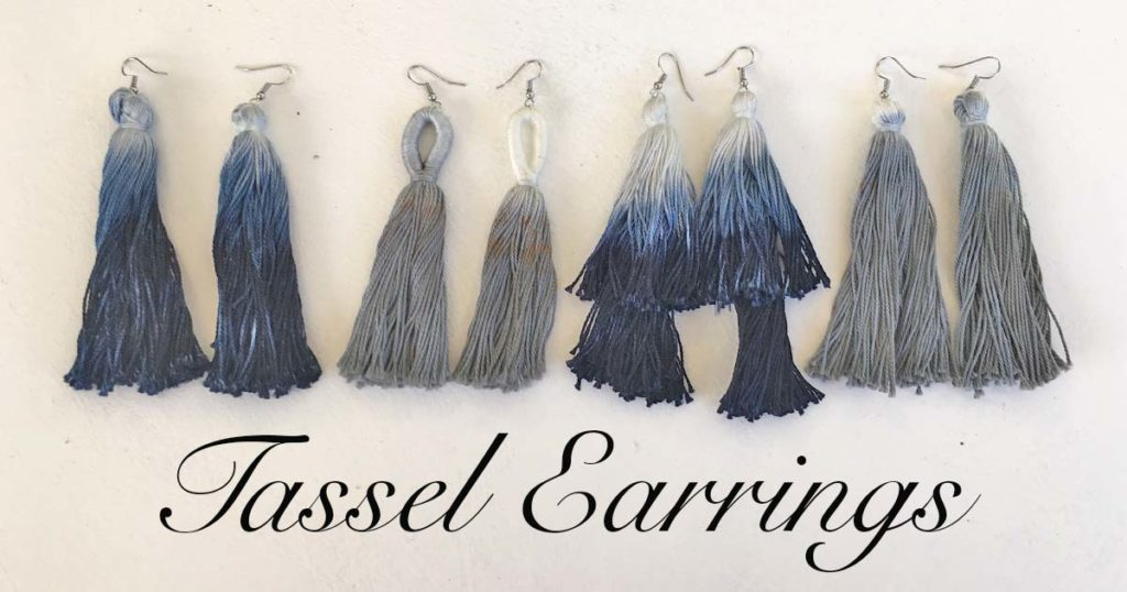 DIY Dip-Dye Tassel Earrings