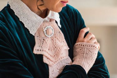 A beautiful knit set inspired by tea time at Downton Abbey