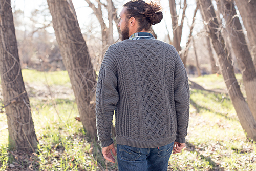 Back View of Temescal Cardigan Crochet Sweater