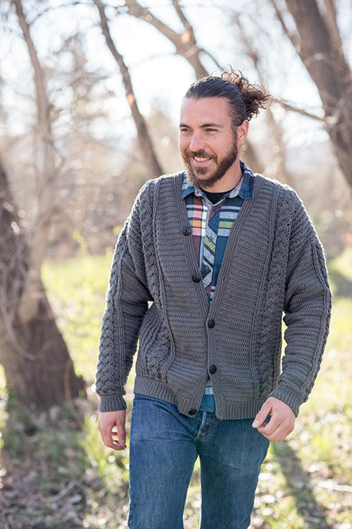 Temescal Cardigan Men's Crochet Sweater