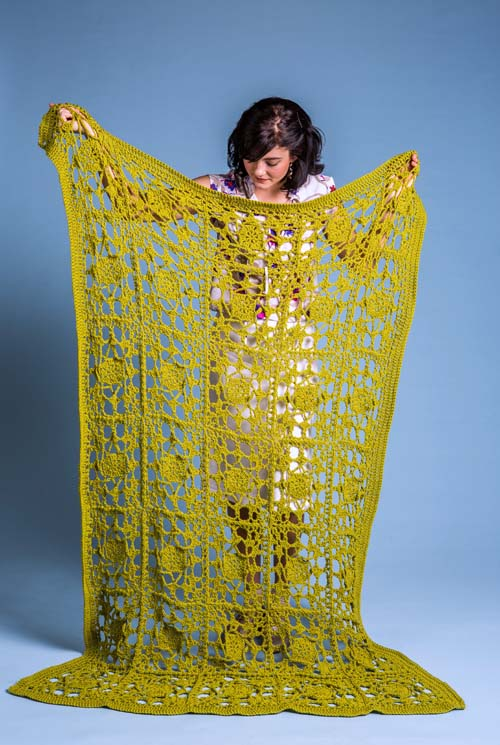 Tendrils Throw Crochet Afghan