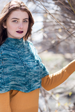 Tetrad Cable Capelet Crochet Pattern