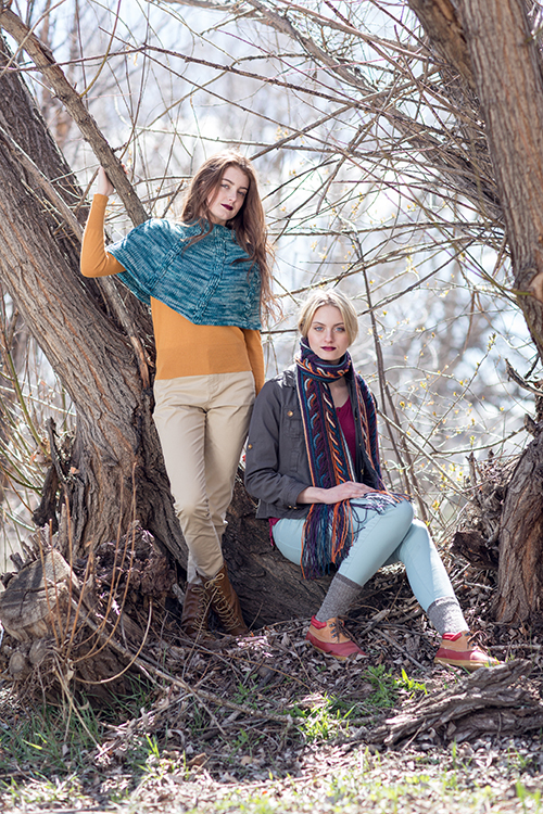 Tetrad Cable Capelet and Obion Scarf Patterns