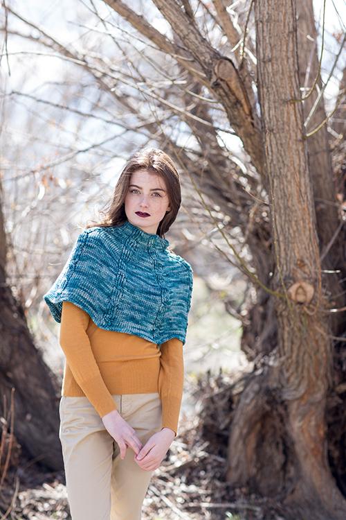 Tetrad Tunisian Crochet Cabled Capelet