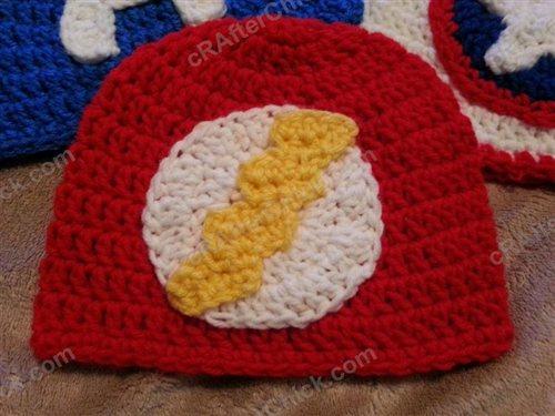 The Flash Superhero Beanie Hat Crochet Pattern Interweave
