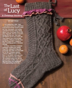 knit stocking with embellishment