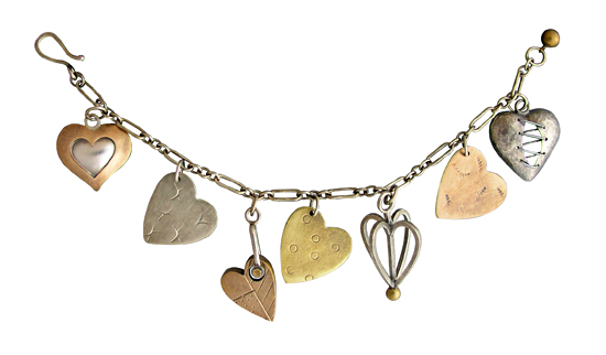 heart charm bracelet by Thomas Mann