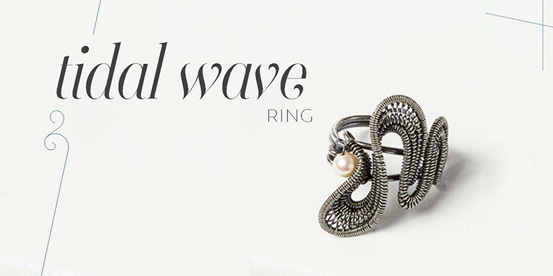 <em>Woven in Wire</em> Jewelry: Tidal Wave Ring