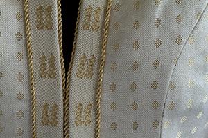 Closeup of Tien's Wedding Dress