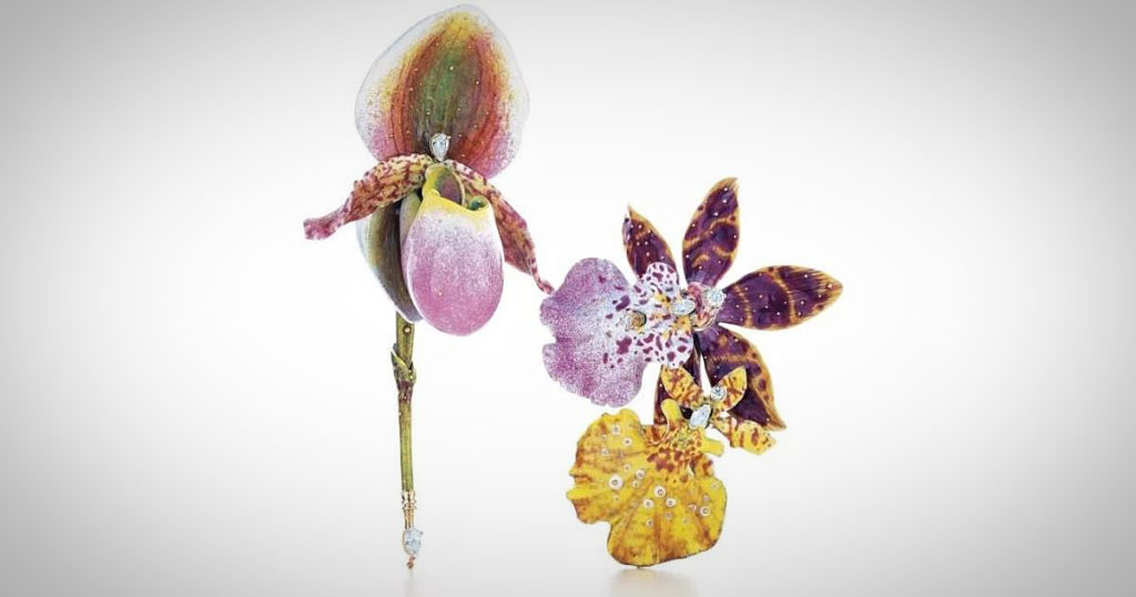 Orchid brooches, Tiffany & Co.