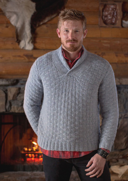 The Timber Sweater, knit in red, would be a great Ken Bone sweater!timberssweater1